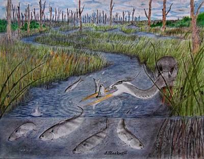 Mullet Creek Art Print by Jason Blackwell