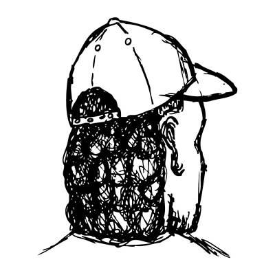 Mullet Art Print by Karl Addison