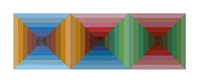 Multi-color Graphic Horizontal Maze Art Print by Beverly Trivane