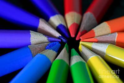 Multi Color Pencils Original by Tracy Hall