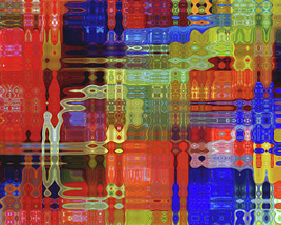 Abstract Quilt Photograph - Multi Color Quilt by Tom Reynen