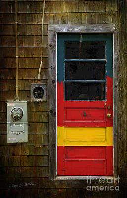 Photograph - Multi-colored Door by Craig J Satterlee