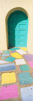 Multi Colored Photograph - Multi-colored Tiles In Front Of A Door by Panoramic Images