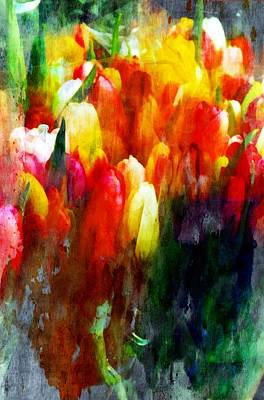 Painting - Multi Colortulips by Joseph Frank Baraba