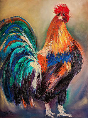 Painting - Multi Coloured Plumage by Jenny anne Morrison