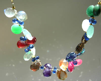 Adove Jewelry - Multi Gemstone Petals Necklace by Adove  Fine Jewelry