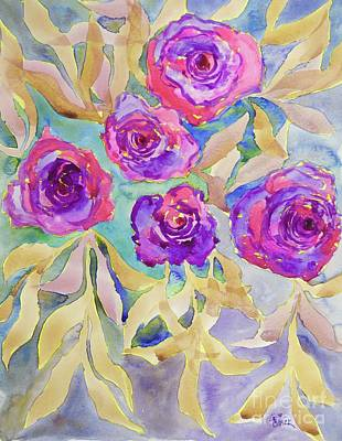 Painting - Multi Hued Roses 9x11.5 Watercolor/140cp Paper by Barrie Stark