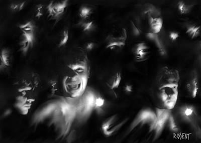 Multiple Personalities Digital Art - Multi-personality by Michael Schneider