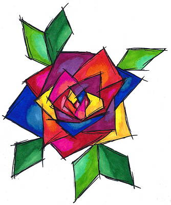 Multi Rose Art Print