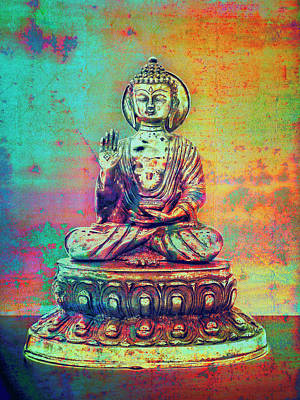 Photograph - Multicolor Budda by Stuart Brown