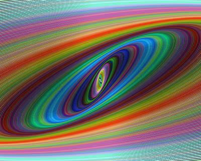 Multicolor Galaxy Art Print