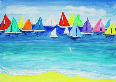 Painting - Multicolor Regatta One by Irina Afonskaya