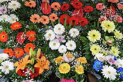 Photograph - Multicolored Abundance - Lavish Flower Market Bouquets by Georgia Mizuleva
