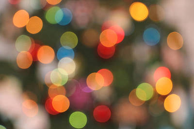 Namaste With Pixels Royalty Free Images - Multicolored Bokeh Royalty-Free Image by Spencer Studios