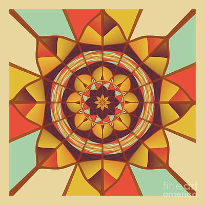 Algorithmic Digital Art - Multicolored Geometric Flourish by Gaspar Avila