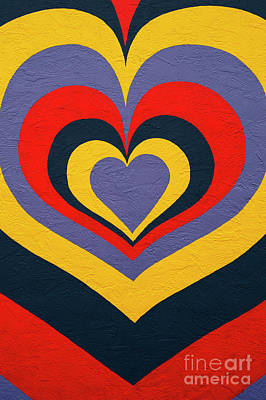 Photograph - Multicolored Heart On Side Of Building by Jim Corwin