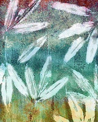 Mixed Media - Multicolored Leaves Abstract Design by Patricia Strand