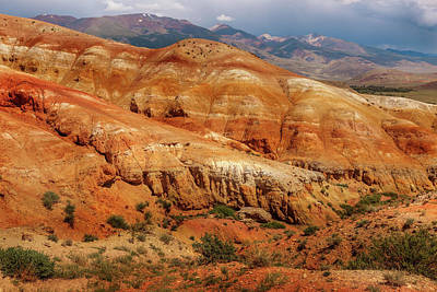 Photograph - Multicolored Mountains Of Kyzyl-chin 2. Altai by Victor Kovchin