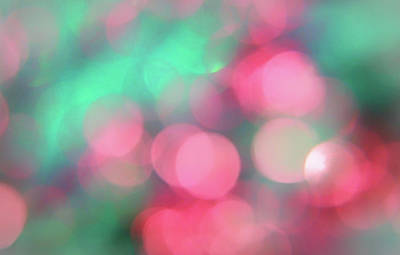 Diamond Dust Photograph - Multicoloured Bokeh by Martin Newman