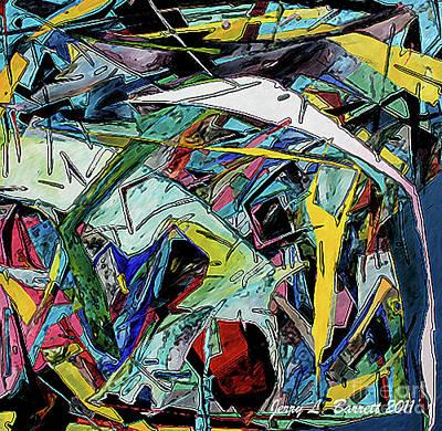 Multiple Car Collision Art Print by Jerry L Barrett