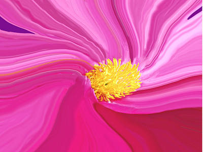 Digital Art - Multiple Pink Shades by Ian  MacDonald