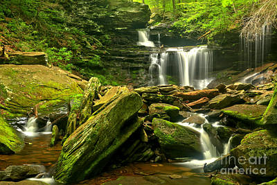 Photograph - Multiple Waterfall Cascade by Adam Jewell