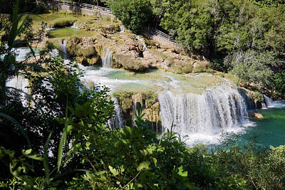 Photograph - Multiple Waterfalls At Krka by Sally Weigand