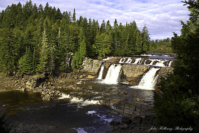 Photograph - Multiple Waterfalls by John Holloway
