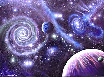 Cosmology Painting - mULTIVERSE 219 by Sam Del Russi