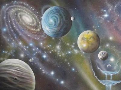 Multiverse 62 Art Print by Sam Del Russi