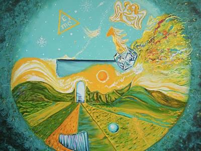 Terrestrial Sphere Painting - Multiverse Portal by Anda Gheorghiu