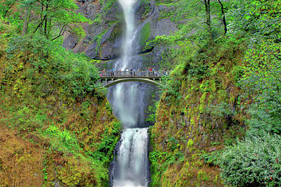 Photograph - Multnomah Falls 2  by SC Heffner