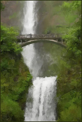 Painting - Multnomah Falls 2016 by Gary Grayson