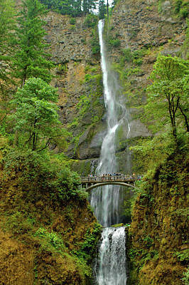 Photograph - Multnomah Falls 3 by SC Heffner