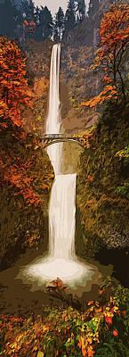Painting - Multnomah Falls by Andrea Mazzocchetti