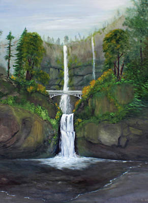 Painting - Multnomah Falls by Catherine Link