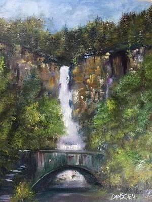 Painting - Multnomah Falls by Cheryl Damschen