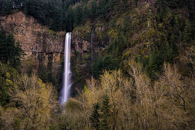 Photograph - Multnomah Falls In Spring by Brian Bonham