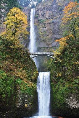 Photograph - Multnomah Falls In The Autumn by Bruce Bley