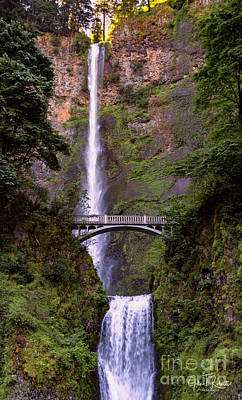 Photograph - Multnomah Falls by John Roberts