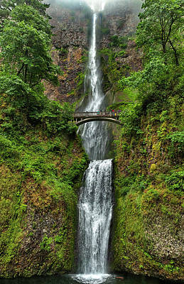 Photograph - Multnomah Falls by Ken Aaron