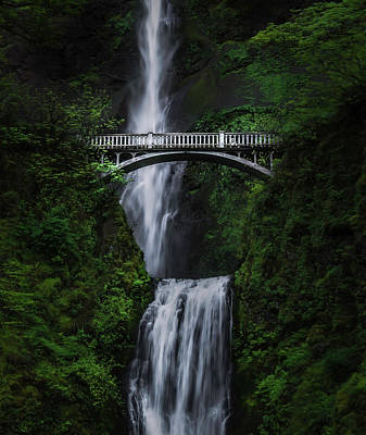 Columbia River Photograph - Multnomah Falls by Larry Marshall