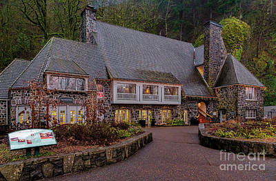 Snack Bar Photograph - Multnomah Falls Lodge by Jon Burch Photography
