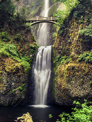 Photograph - Multnomah Falls Lower by Jay Moore