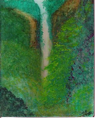Multnomah Falls Art Print by Lynnette Jones