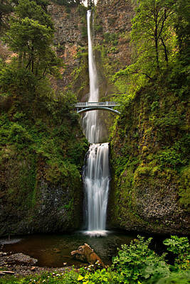 Multnomah Falls Art Print by Mary Jo Allen