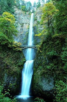 Photograph - Multnomah Falls by Norman Hall