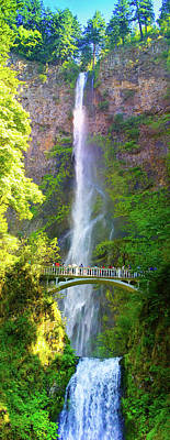 Multnomah Falls Oregon Columbia River Gorge Art Print