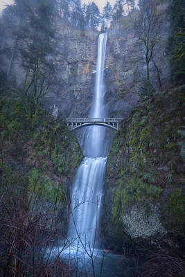 Photograph - Multnomah Falls, Painterly by Belinda Greb