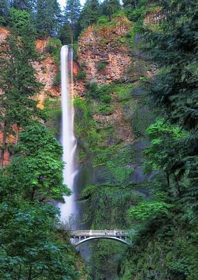 Robert Bellomy Royalty-Free and Rights-Managed Images - Multnomah Falls Portland Oregon by Robert Bellomy